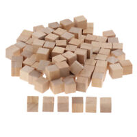100x Wooden Square Brick Building Blocks Mini Cube Math Puzzle Toy DIY Craft