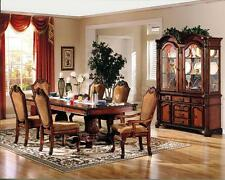 DINING TABLE SET 8PCS FORMAL CHATEAU RUSTIC CHERRY FINISH WOOD