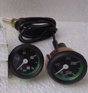 Jeep Willys MB GPW CJ2A 3A CJ3B Mechanical Temperature Gauge Oil Pressure Gauge