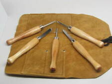 5pc Mini Lathe Wood/Pen Wood Turning Tools w/Tool Roll Woodworking RAMELSON USA