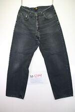 Lee Kansas (Cod. M1299) tg 50 W36 L32 jeans Nero vita alta usato vintage
