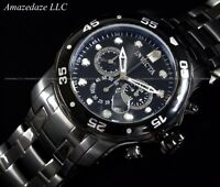 NEW Invicta Mens Combat Chronograph Stainless Steel Black Dial Scuba Watch !!