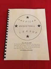 1961-1962 ABL media guide / American Basketball League / Bridges / Cox / Hawkins