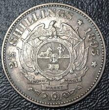 1895 SOUTH AFRICA - 2 1/2 SHILLINGS - .925 SILVER - Johannes Paulus Kruger -RARE