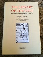 THE LIBRARY OF THE LOST Roger Dobson 1st ed 250 COPY HC fine Tartarus Press OOP