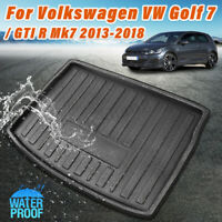 Trunk Mat Floor Tray Carpte Cargo Boot Liner For VW Golf 7 / GTI R Mk7 13-18