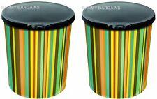 GARDMAN 2x 18cm Heads & Tails DOG TREAT JAR Melamine c/w Lid PET FOOD Container