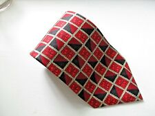 RICHEL Red & Black HAND MADE 100% Silk Neck Tie MINT 60""
