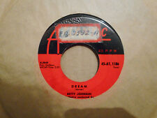 BETTY JOHNSON,  DREAM,  ATLANTIC RECORDS CANADA 1958