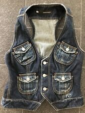 DSQUARED2 F/W 2006 OILY LORD & LADY WESTERN JEANS VEST WESTE 46 40 so hot
