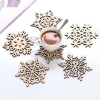 Wood Coaster Kitchen Christmas Place Table Mat Decorations For Home Cup Mug
