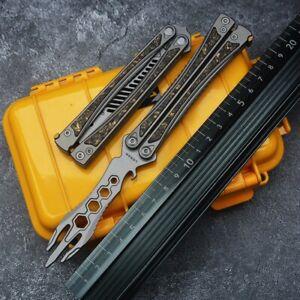 Knife Titanium Utility Alloy Mini Folding Pocket Blade EDC Comb Knives Outdoor
