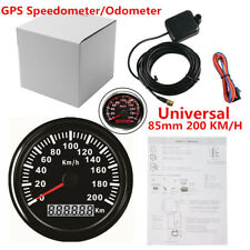 85mm 200 KM/H Waterproof GPS Digital Speedometer Gauge Odometer Car Truck Marine