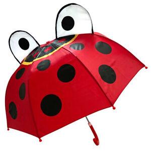 Ladybird Character 3D Pop Up Lightweight Umbrella For Kids By Soake