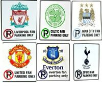 Official Football Club Metal Door Sign 'Fan Parking Only'   You choose team. New