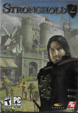 Stronghold 2 PC CD ROM 2005 2-Disc w Instruction Booklet & Box Castle Seige