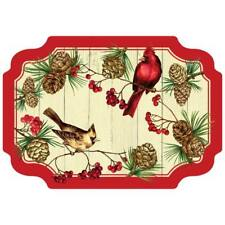 Winter Cardinal Victorian Placemats 50 Pack Christmas Winter Decoration