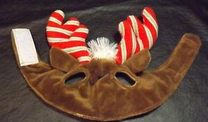 CAT FELINE REINDEER CAP COSTUME - ONE SIZE - ADJUSTABLE CHIN STRAP