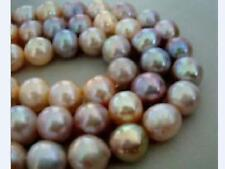 """50"""" 9-10mm natural south sea pink multicolor pearl necklace 14k"""