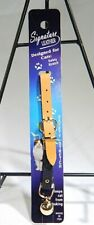 New listing Leather Safety Stretch Cat Collar with Bell Tan by OmniPet T3