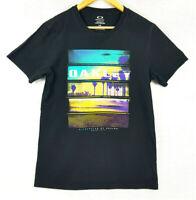 OAKLEY Mens Black Oakley Surf Logo Regular Fit Short Shirt Top Size S