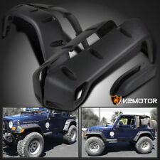 "6PC 97-06 Jeep Wrangler TJ 7"" Wide Black Pocket Extended Fender Flares Kit"