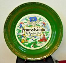 "PENSYLVANIA STATE SOUVENIR PLATE 10"" HOMER LAUGHLIN U.S.A. # K54N8 PRE-OWNED"