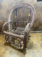 Vintage Childs TWIG ADIRONDACK  CAMP CHAIR / Cabin Rustic Stick Limb Furniture