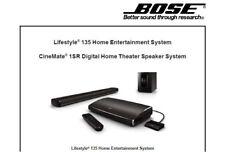 Bose Lifestyle 135 Home Ent syst cinemate 1SR système de haut-parleur Service Manual Livre