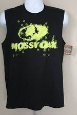 NEW Mens Tank Top Mossy Oak Muscle T Shirt Large Deer Hunting Camo Graphic Tee