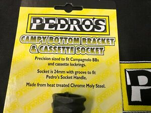 Pedro's Campy BB/Cassette Lockring Socket fits Campagnolo Bottom Bracket