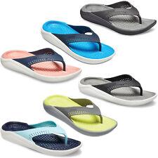 Crocs LiteRide Flip Flop Sandals Lightweight Padded Summer Holiday Beach Unisex