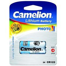 Piles spéciales photos CR123A lithium Camélion, expédition rapide et gratuite