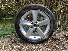 """1x Genuine Volkswagen VW Polo Facelift 16"""" Alloy Wheel Rim 7Jx16 (6R0601025AF)"""