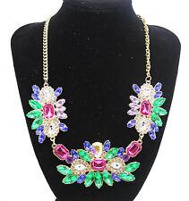 Fashion Charm Pendant Chain Crystal Jewelry Choker Chunky Statement Bib Necklace Style 20