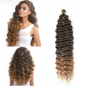 """22"""" Deep Wave Crochet Hair Weaves Synthetic Curly Twist Braiding Hair Extensions"""