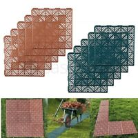 Pack of 5 Plastic Garden Non-Slip Path Walkway Patio Tiles Decking Grid Lawn UK