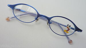 Disney Mickey Mouse Children Glasses for Girls Dark Blue Spring Hinges Size K