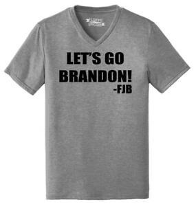 Mens Let's Go Brandon FJB Triblend V-Neck Republican Anti Biden Political