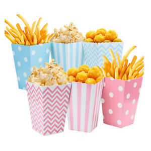 12Pcs Popcorn Movie Carnival Circus Party Candy Supply Boxes AU Favour Popcorn