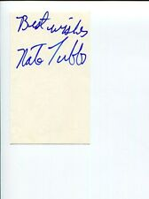 Nate Tubbs Heavyweight Boxer Former Sparring Partner Mike Tyson Signed Autograph
