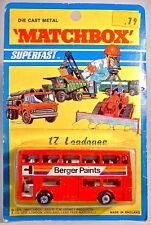 "Matchbox SF Nr. 17B The Londoner ""Berger Paints"" top auf USA-Karte"