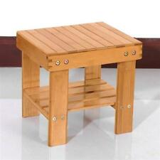 Wooden Bamboo Children Bench Safe Stool Chair Foot Rest Fishing Small Step Stool