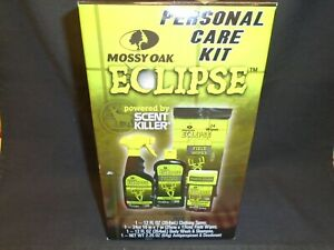 MOSSY OAK Eclipse Personal Care Kit CLOTHING SPRAY, Field Wipes, BODY WASH, More