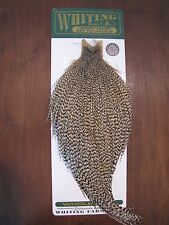 Fly Tying Whiting H/M Bronze Rooster Cape Grizzly #L