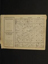 Wisconsin St.Croix County Map Stanton Township 1929  W6#79