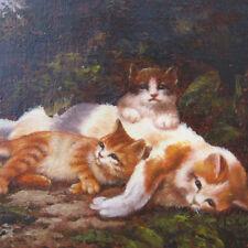 Sayer - Katzenmaler 20. Jhd. Katze KÄTZCHEN Katzenmutter GARTEN kitten pussy cat