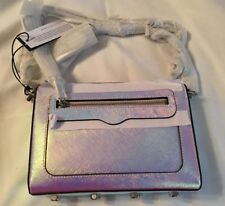 NWT Rebecca Minkoff Avery Crossbody Iridescent Opal Metallic Leather Purse
