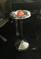 Stand cenicero, aprox. 1950/60er años, vollverchromtes metal, bola de billar No. 5