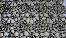"""Black Chain sequin chemical web Lace 54"""" wide Fabric Sold By yd overlay"""